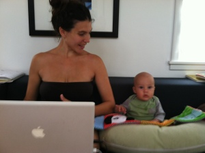 Getting in some sitting work with Mama.